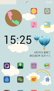 Launcher 8 theme:Blue Sky screenshot 0