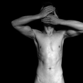 Finding Deeper Meaning Through the Concealment of a Subject by Jordin Pierce - Nudes & Boudoir Artistic Nude ( organic shape, natural light, nude, black and white, mature, male, art, human )