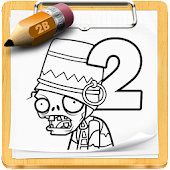 how to draw Plants vs Zombies
