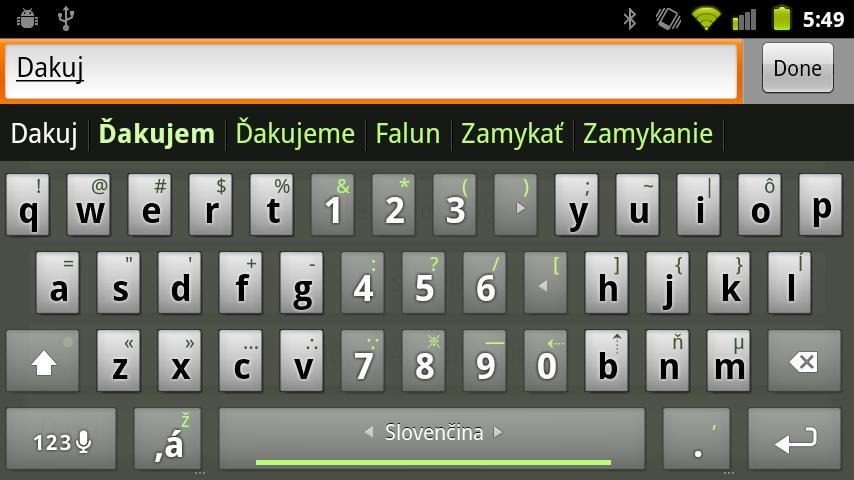 Slovak Keyboard Plugin- screenshot