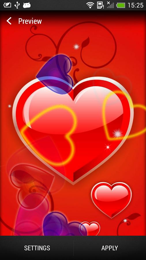 Liefde live agtergrond screenshot