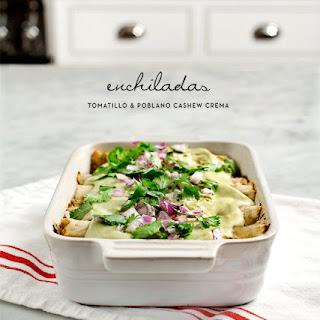 """Poblano """"crema"""" Enchiladas"""