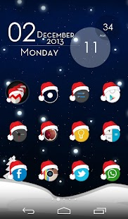 Xmas Cyrcle Icons Apex Nova- screenshot thumbnail