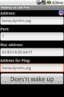 Screenshot of Wakeup on LAN Free