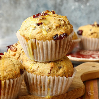 Dried Cherry Pecan Muffins.