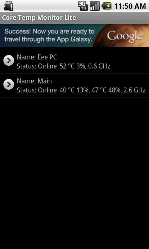Core Temp Monitor Lite- screenshot