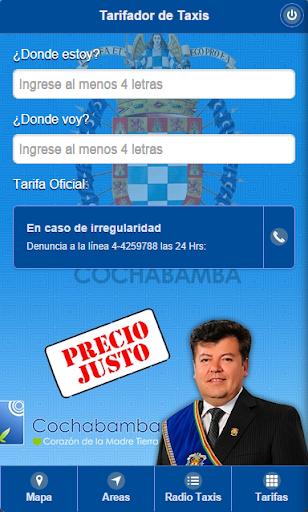Tarifas Taxis Cochabamba
