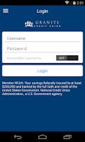 Screenshot of Granite CU Mobile Banking