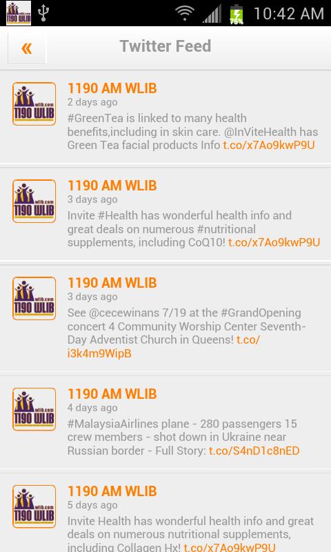 1190AM WLIB - screenshot