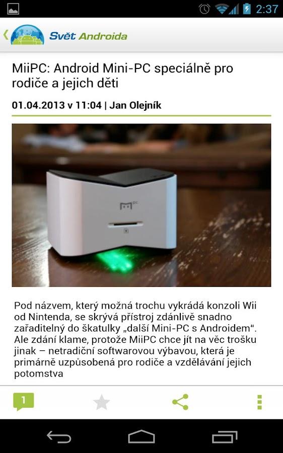 SvetAndroida.cz- screenshot
