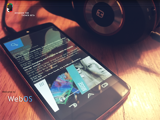 WebOS - screenshot