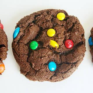 Double Chocolate M&M Cookies.