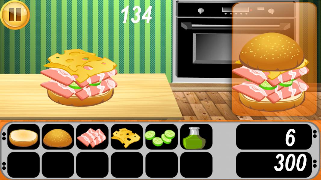 Burger Food Shop, game recipes, sandwich maker, free maker, burger maker, king kitchen