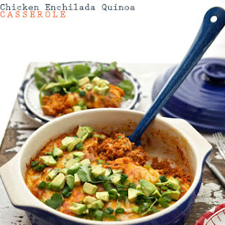 Chicken Enchilada Quinoa Casserole