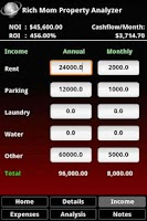 Screenshot of Rich Mom Property Analyzer