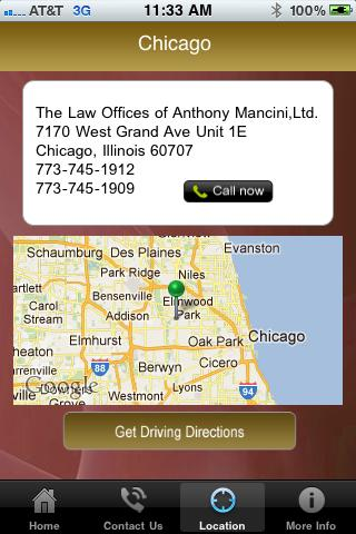 Injury Law Center- screenshot