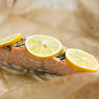 Salmon with Fennel Baked in Parchment
