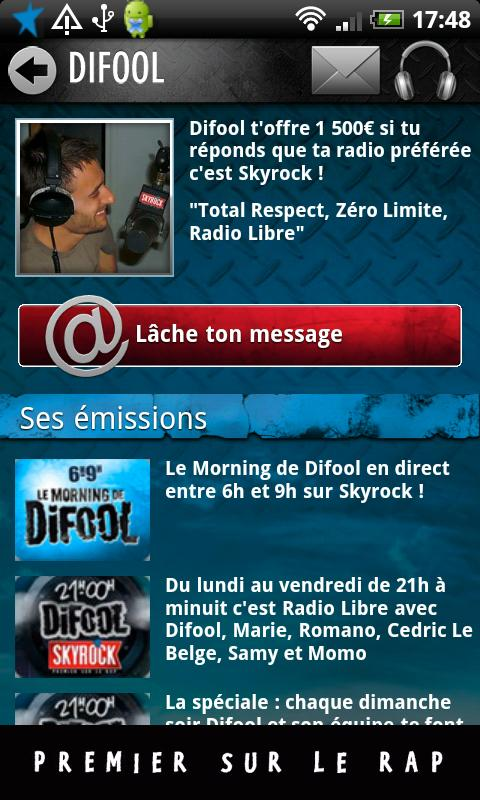 Skyrock - screenshot