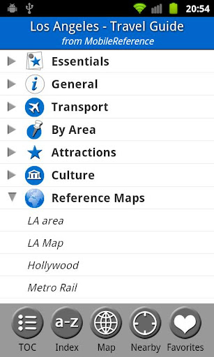 Los Angeles Travel Guide Map