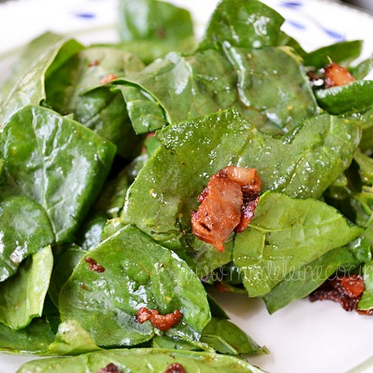 Spinach with Bacon and Vinegar