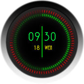 Neon Clock Widgets for Zooper