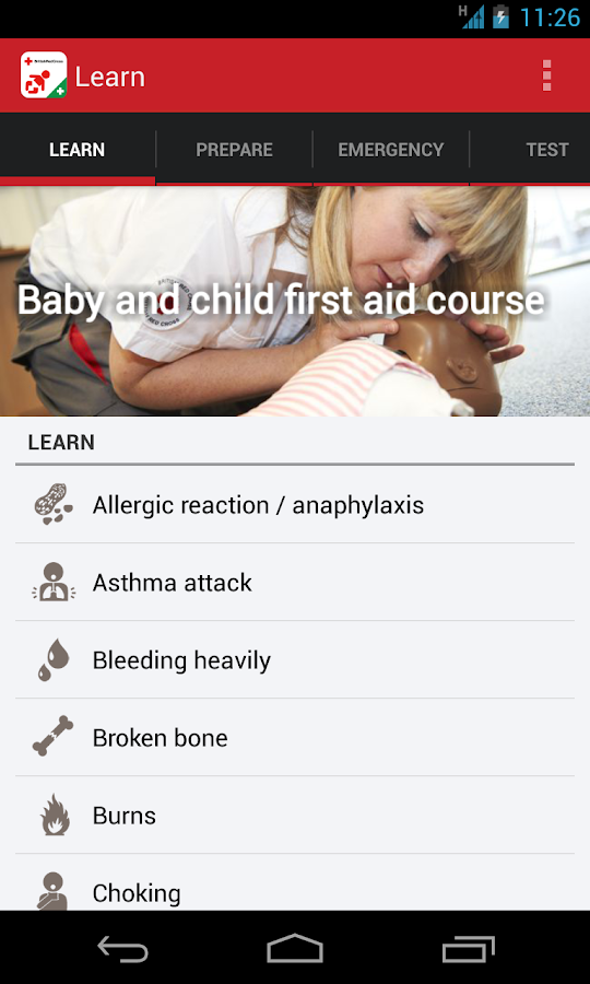 Baby and Child First Aid- screenshot