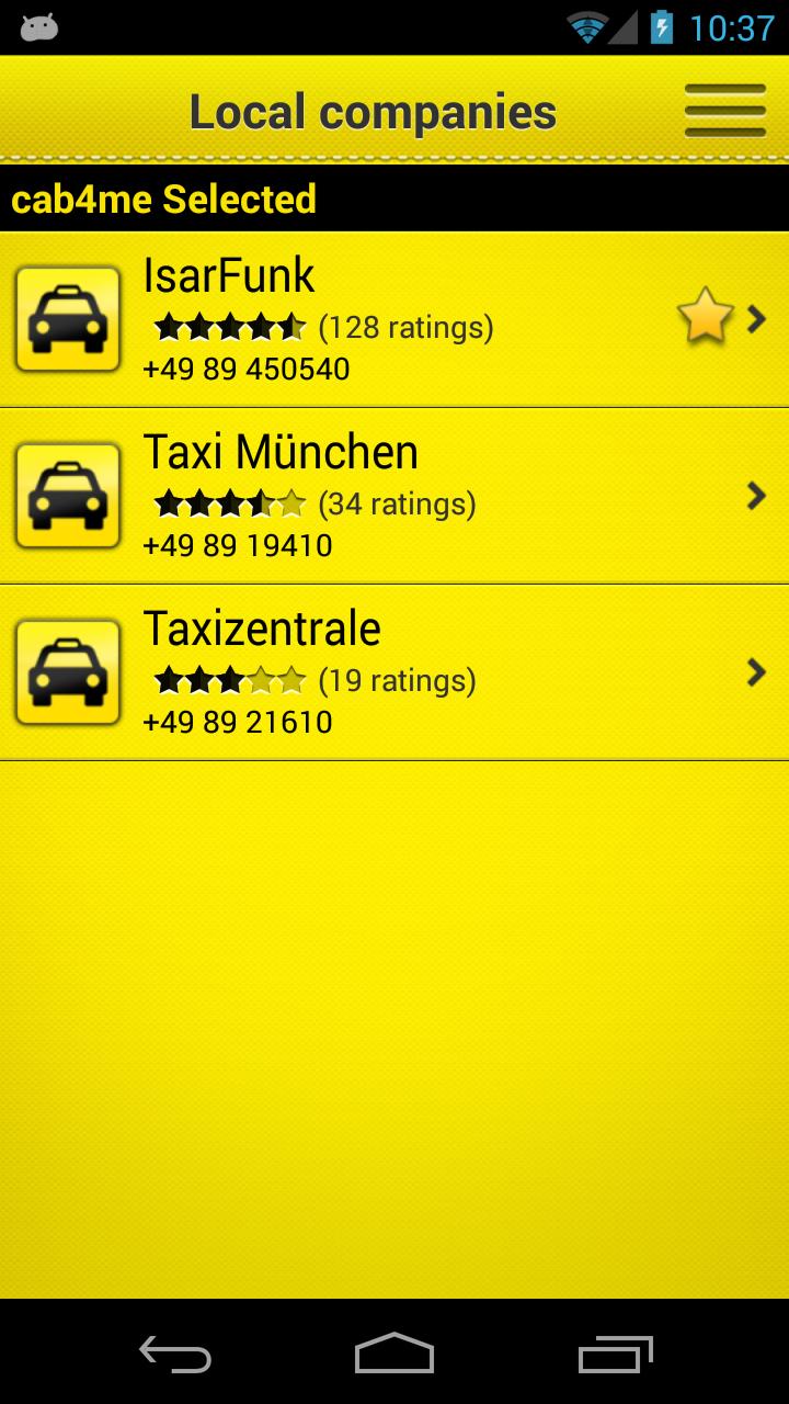cab4me taxi finder screenshot #2