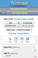Screenshot of eCoffeeCard