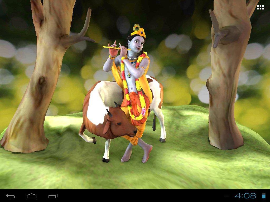 Hd wallpaper radha krishna - 3d Krishna Live Wallpaper Android Apps On Google Play
