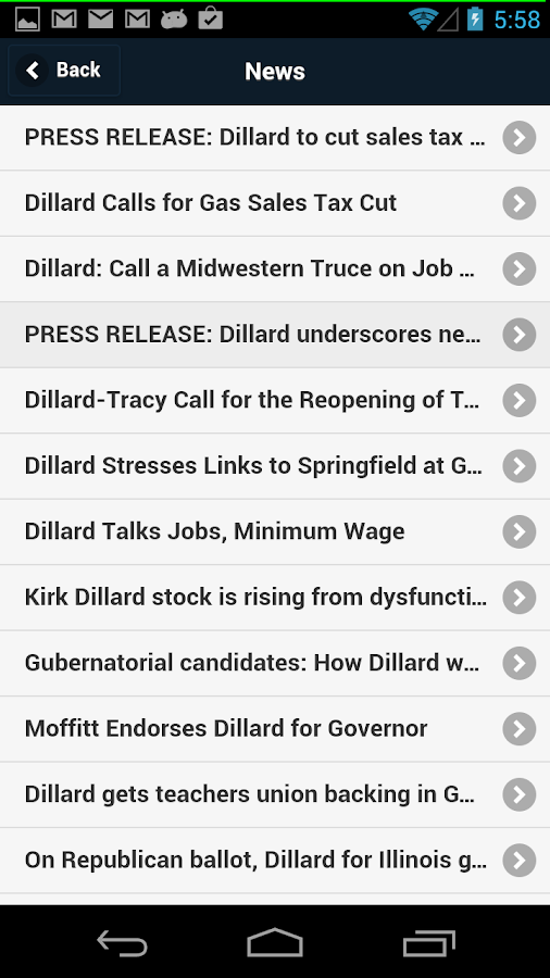Dillard-Tracy Campaign- screenshot