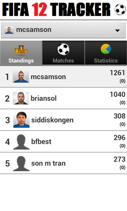 FIFA 12 Tracker - screenshot