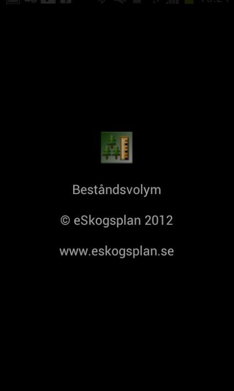Beståndsvolym- screenshot