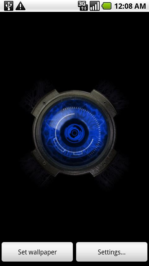 Blue Eye Live Wallpaper - screenshot