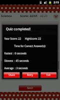 Screenshot of ReadnTick Science Quiz