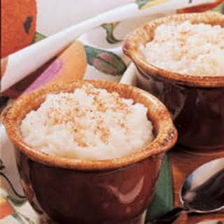 Old-Fashioned Rice Pudding.