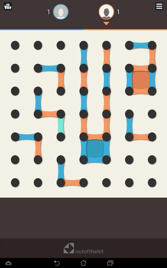 Dots and Boxes- screenshot