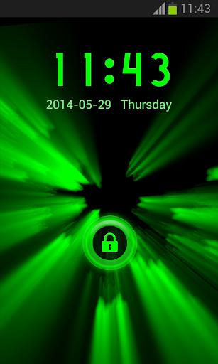 霓虹燈綠色儲物櫃