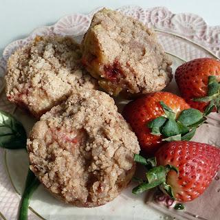 Strawberry Orange Muffins with Cinnamon Streusel.