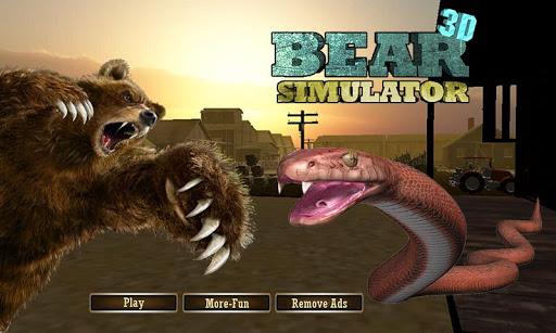 곰 시뮬레이터-곰 게임 3D