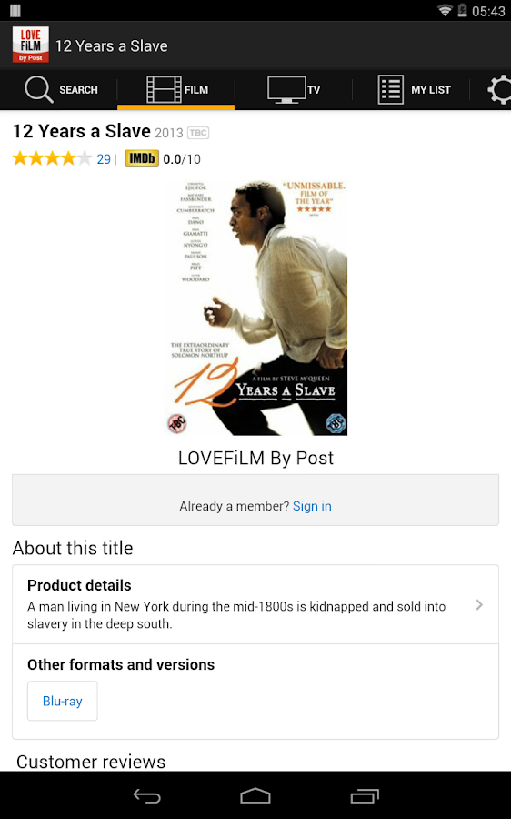 LOVEFiLM By Post- screenshot