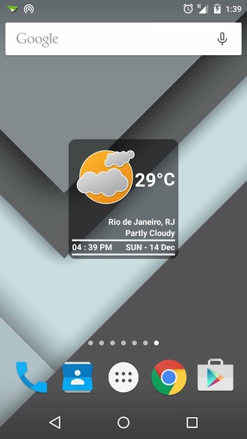 Boxy Clock +Weather - screenshot
