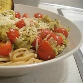 Smoked Salmon Pesto Pasta.