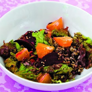 Wild Rice Salad with Oranges and Roasted Beets