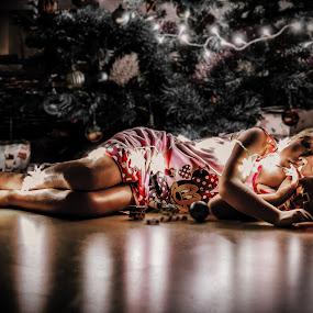 by Andre Oelofse - Public Holidays Christmas ( woman, christmas, alone, , #GARYFONGDRAMATICLIGHT, #WTFBOBDAVIS )