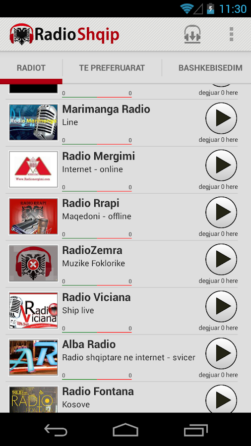 Radio Shqip - Albanian Radio - screenshot
