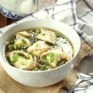 Shiitake Wonton Soup.