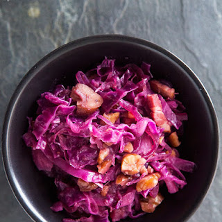 Braised Red Cabbage with Chestnuts.