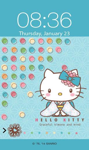 Hello Kitty Kimono Screen Lock