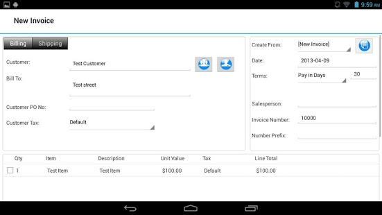 Express Invoice Free Invoicing - screenshot thumbnail
