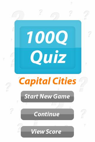 Capital Cities - 100Q Quiz- screenshot